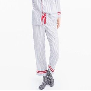 J. Crew Striped Tipped Cotton Cropped Pajama Pants